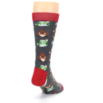 Image of Grey Super Mario Game Men's Casual Socks (side-1-back-20)