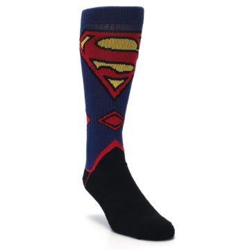 Image of Blue Black Superman Suit Up Men's Casual Socks (side-1-front-02)