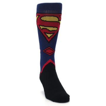Image of Blue Black Superman Suit Up Men's Casual Socks (side-1-front-03)