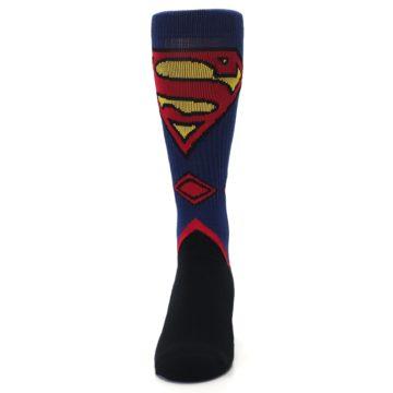 Image of Blue Black Superman Suit Up Men's Casual Socks (front-05)