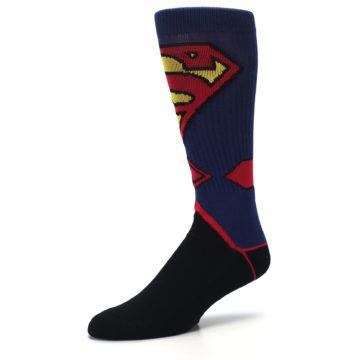 Image of Blue Black Superman Suit Up Men's Casual Socks (side-2-09)
