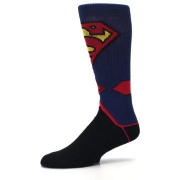 Image of Blue Black Superman Suit Up Men's Casual Socks (side-2-10)