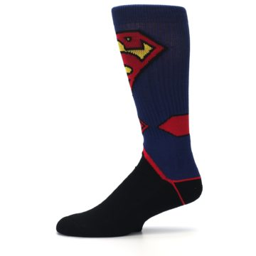 Image of Blue Black Superman Suit Up Men's Casual Socks (side-2-11)