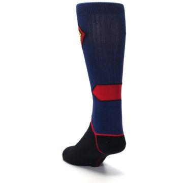 Image of Blue Black Superman Suit Up Men's Casual Socks (side-2-back-16)