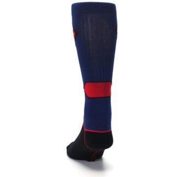 Image of Blue Black Superman Suit Up Men's Casual Socks (back-17)