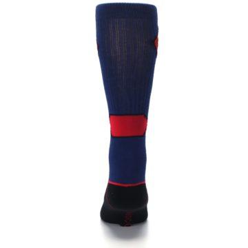 Image of Blue Black Superman Suit Up Men's Casual Socks (back-18)