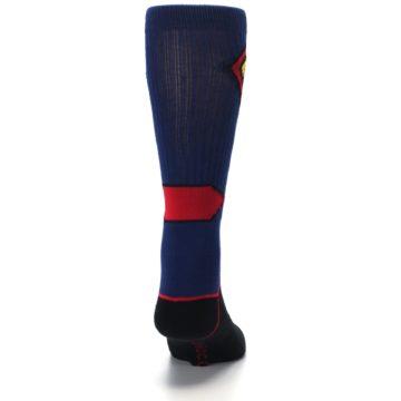Image of Blue Black Superman Suit Up Men's Casual Socks (back-19)