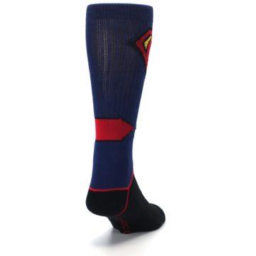 Image of Blue Black Superman Suit Up Men's Casual Socks (side-1-back-20)