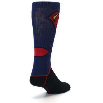 Image of Blue Black Superman Suit Up Men's Casual Socks (side-1-back-21)