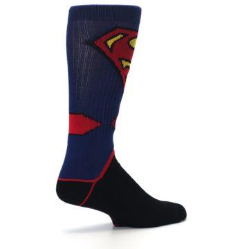 Image of Blue Black Superman Suit Up Men's Casual Socks (side-1-23)