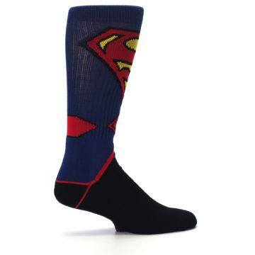Image of Blue Black Superman Suit Up Men's Casual Socks (side-1-24)