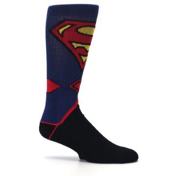 Image of Blue Black Superman Suit Up Men's Casual Socks (side-1-25)