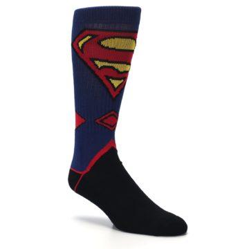 Image of Blue Black Superman Suit Up Men's Casual Socks (side-1-27)