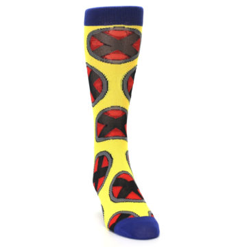 Image of Yellow Red Blue X-Men AOP Men's Casual Socks (side-1-front-03)