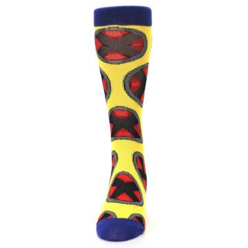 Image of Yellow Red Blue X-Men AOP Men's Casual Socks (front-05)