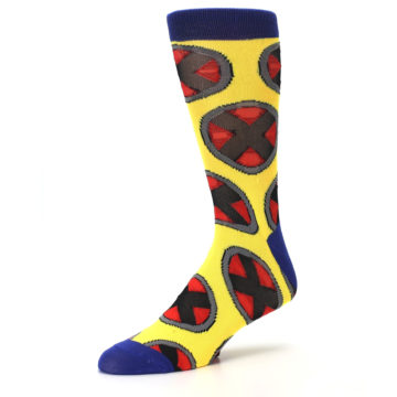 Image of Yellow Red Blue X-Men AOP Men's Casual Socks (side-2-09)