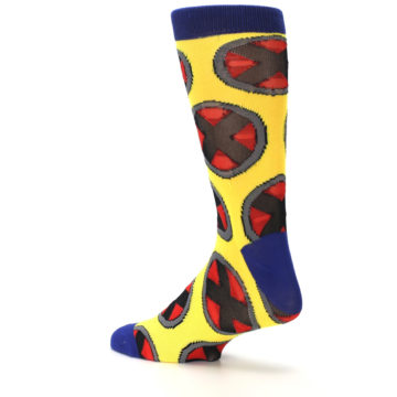 Image of Yellow Red Blue X-Men AOP Men's Casual Socks (side-2-back-14)