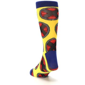 Image of Yellow Red Blue X-Men AOP Men's Casual Socks (side-2-back-16)