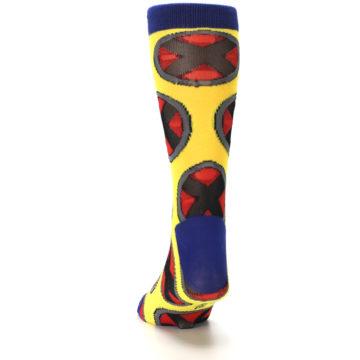 Image of Yellow Red Blue X-Men AOP Men's Casual Socks (back-17)