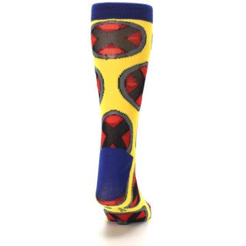 Image of Yellow Red Blue X-Men AOP Men's Casual Socks (back-19)