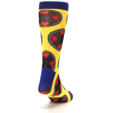 Image of Yellow Red Blue X-Men AOP Men's Casual Socks (side-1-back-20)
