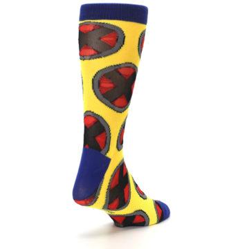 Image of Yellow Red Blue X-Men AOP Men's Casual Socks (side-1-back-21)
