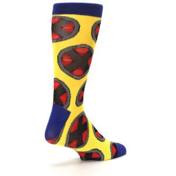 Image of Yellow Red Blue X-Men AOP Men's Casual Socks (side-1-back-22)