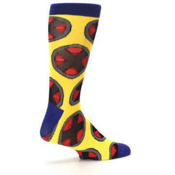 Image of Yellow Red Blue X-Men AOP Men's Casual Socks (side-1-23)