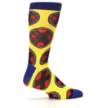 Image of Yellow Red Blue X-Men AOP Men's Casual Socks (side-1-24)