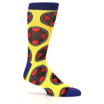 Image of Yellow Red Blue X-Men AOP Men's Casual Socks (side-1-25)