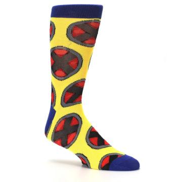 Image of Yellow Red Blue X-Men AOP Men's Casual Socks (side-1-26)