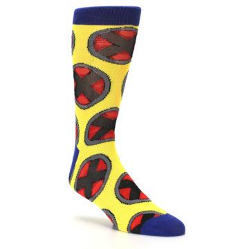 Image of Yellow Red Blue X-Men AOP Men's Casual Socks (side-1-27)