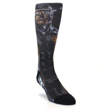 Image of Black Blue X-Men Cyclops SuperHero Men's Casual Socks (side-1-front-02)