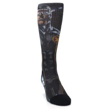 Image of Black Blue X-Men Cyclops SuperHero Men's Casual Socks (side-1-front-03)