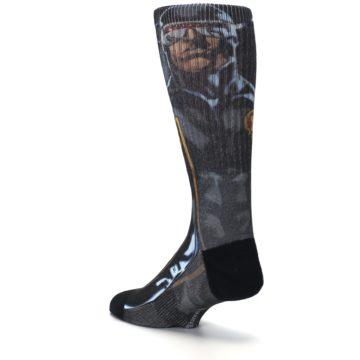 Image of Black Blue X-Men Cyclops SuperHero Men's Casual Socks (side-2-back-15)
