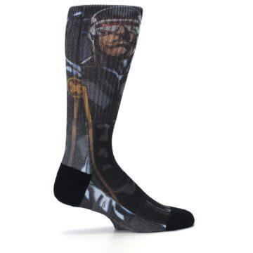 Image of Black Blue X-Men Cyclops SuperHero Men's Casual Socks (side-1-24)