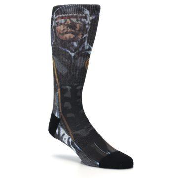 Image of Black Blue X-Men Cyclops SuperHero Men's Casual Socks (side-1-27)
