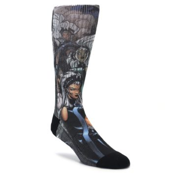 Black grey XMen Storm dress socks