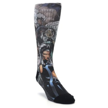 Image of Black Grey X-Men Storm Sublimated Men's Casual Socks (side-1-front-02)