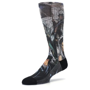 Image of Black Grey X-Men Storm Sublimated Men's Casual Socks (side-2-09)