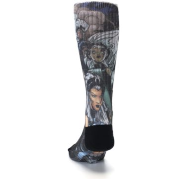 Image of Black Grey X-Men Storm Sublimated Men's Casual Socks (back-17)