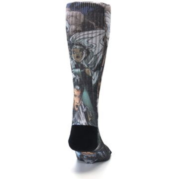 Image of Black Grey X-Men Storm Sublimated Men's Casual Socks (back-19)