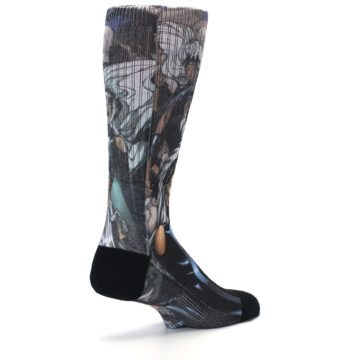 Image of Black Grey X-Men Storm Sublimated Men's Casual Socks (side-1-back-22)