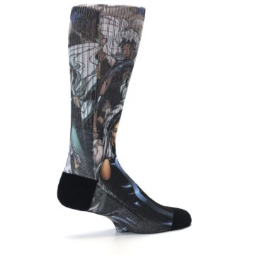 Image of Black Grey X-Men Storm Sublimated Men's Casual Socks (side-1-23)