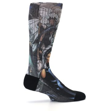 Image of Black Grey X-Men Storm Sublimated Men's Casual Socks (side-1-24)