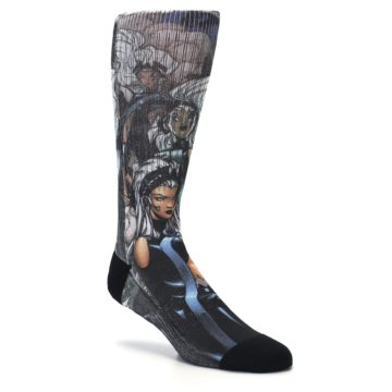Image of Black Grey X-Men Storm Sublimated Men's Casual Socks (side-1-27)