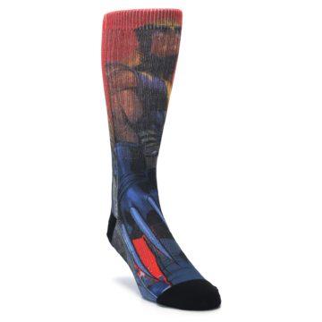 Image of Blue Red X-Men Wolverine Men's Casual Socks (side-1-front-02)