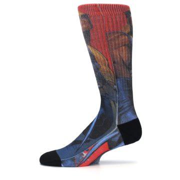Image of Blue Red X-Men Wolverine Men's Casual Socks (side-2-11)