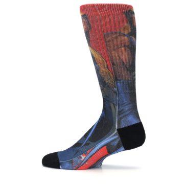 Image of Blue Red X-Men Wolverine Men's Casual Socks (side-2-12)