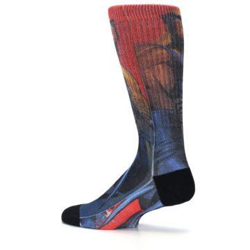 Image of Blue Red X-Men Wolverine Men's Casual Socks (side-2-13)